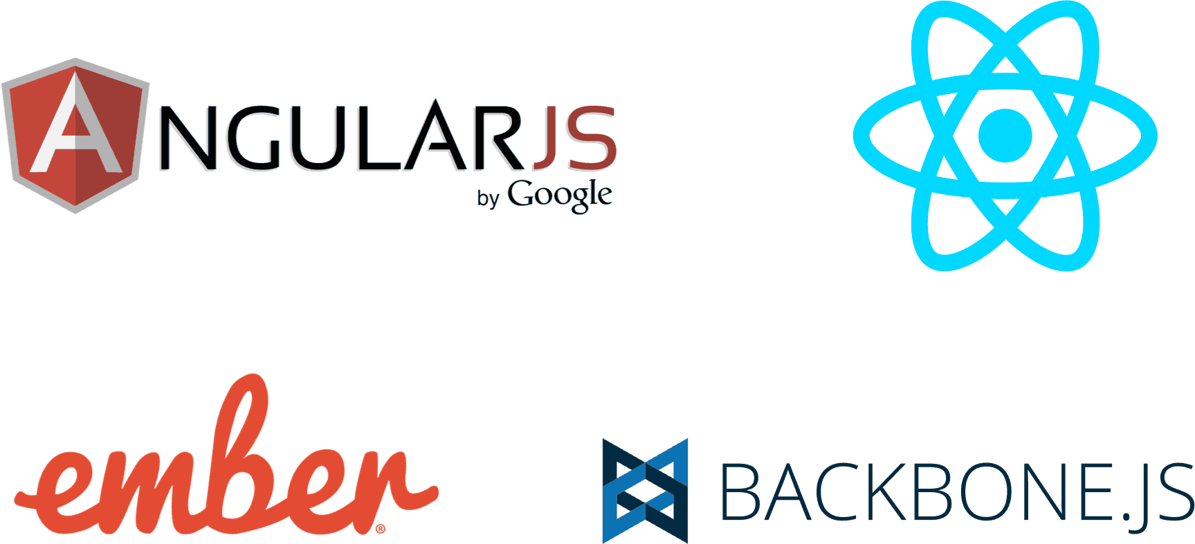 Logos of popular JavaScript frameworks