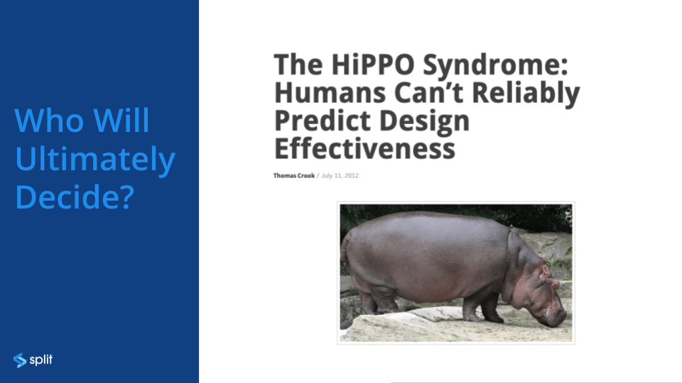 The HiPPO Syndrome: Humans Can't Reliably Predict Design Effectiveness.