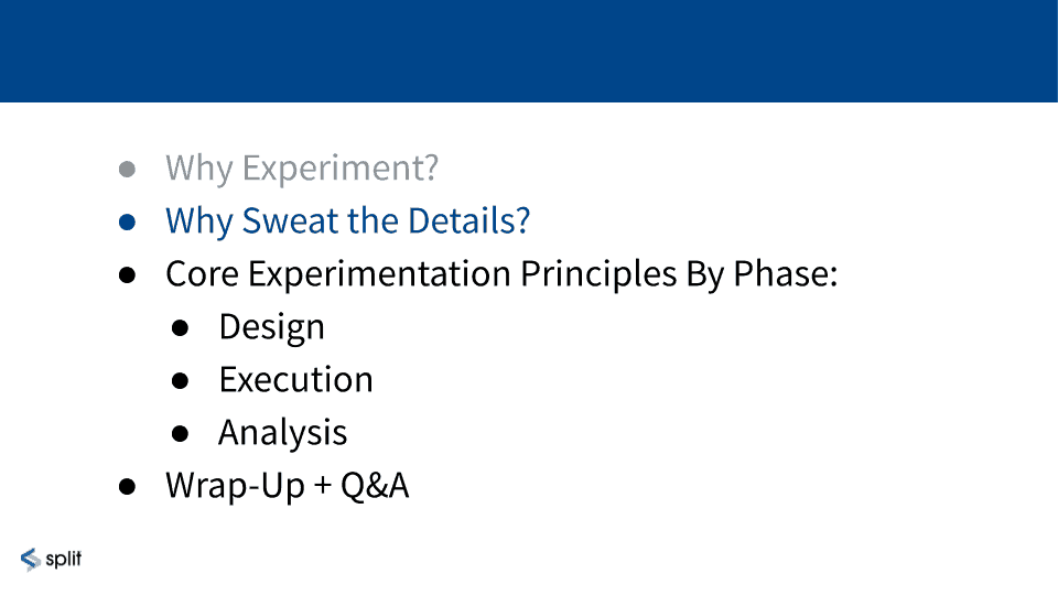 Why sweat the details in online controlled experiments?
