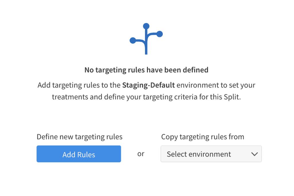 Split.io Add Rules dialog
