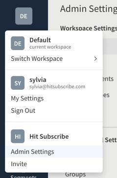 Split.io Admin Settings