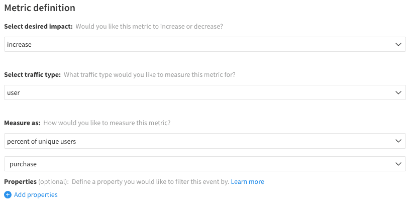 Implementation of Conversion Rate metric in Split