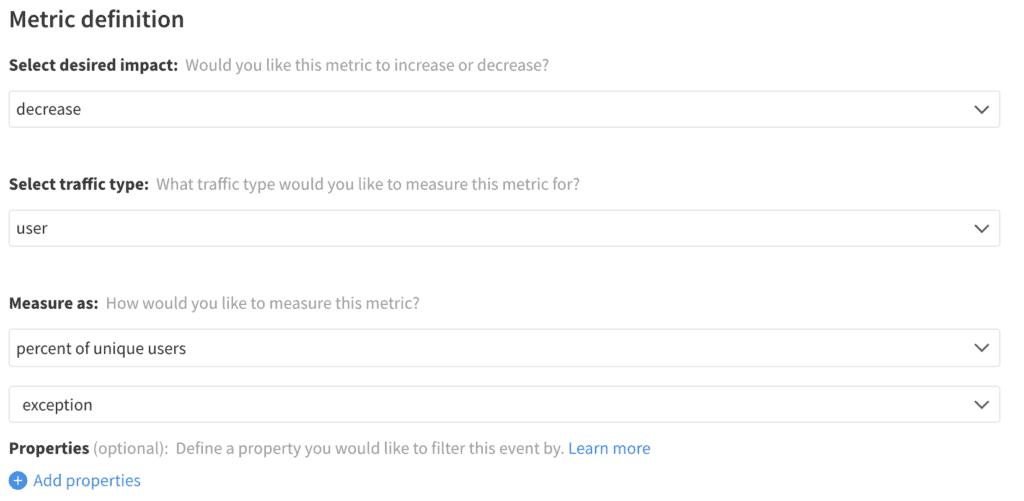 Implementation of Error Rate metric in Split