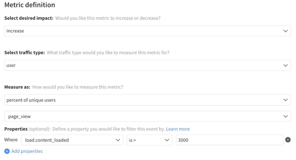 Implementation of Page Load SLA Exposure metric in Split
