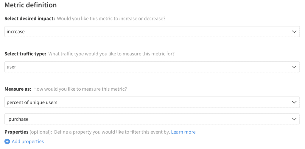 Implementation of Purchase Rate metric in Split