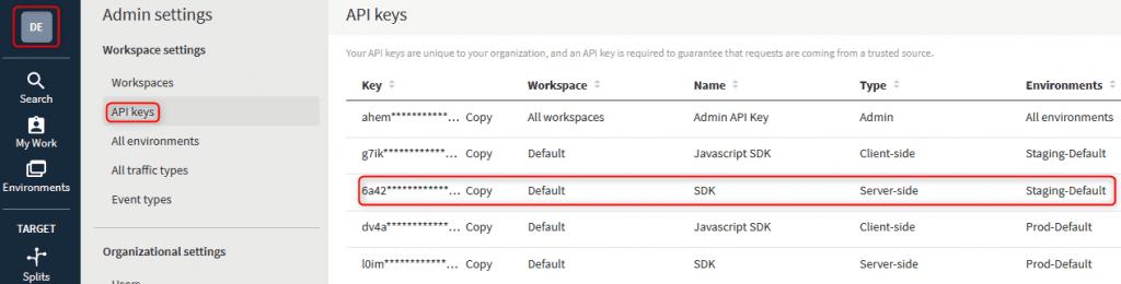Image of Split API Keys