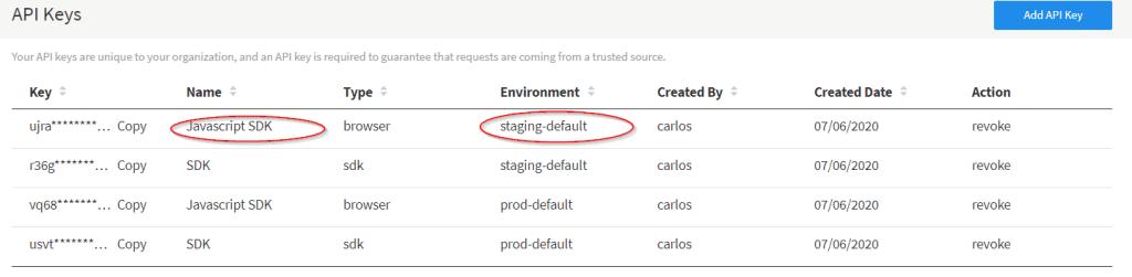 Staging default